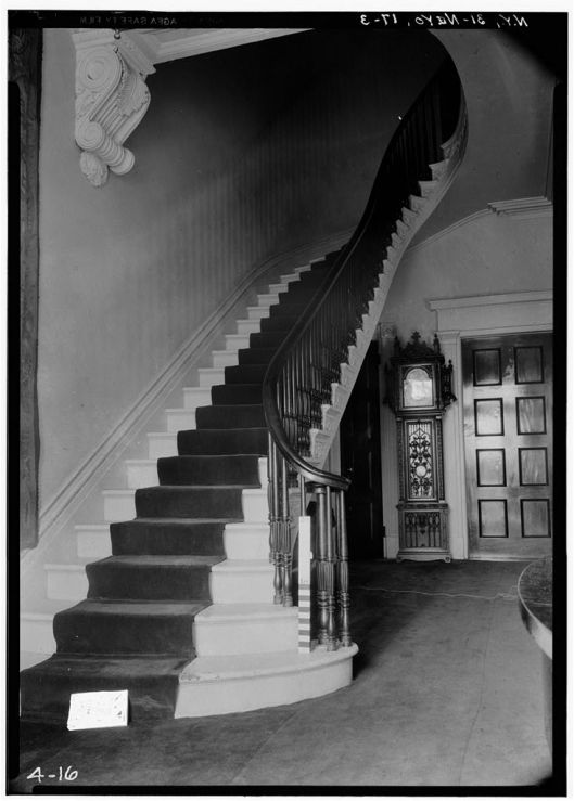 Even worse! The staircase at Number 8 Washington Square North, a house built in the same year as the Tredwells' (1832). It as a similar but grander home, beautiful to look at but like all of the urban row houses short on comfort as we know it.