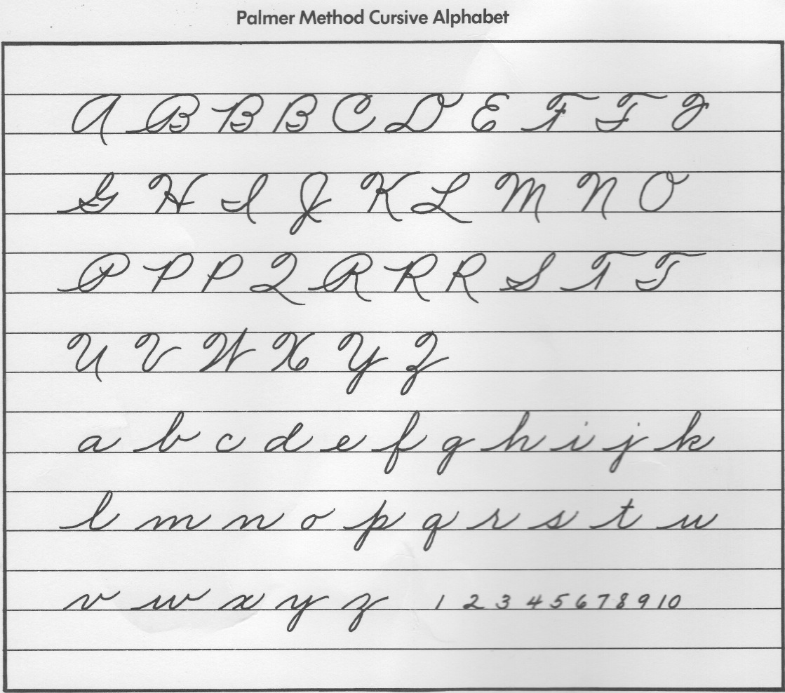 Cursive Handwriting Hints And Echoes