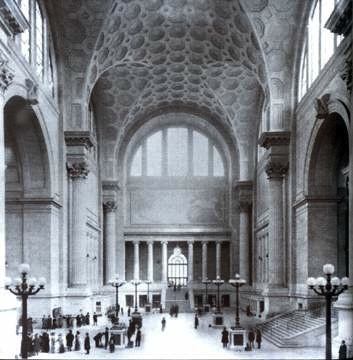The old Pennsylvania Station—interior.