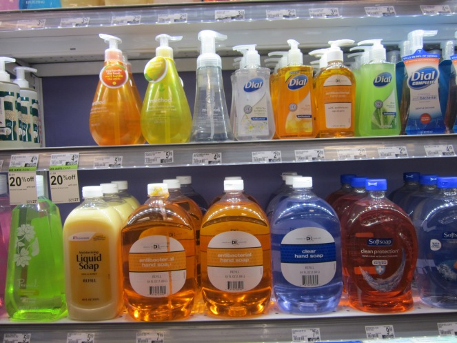 Anti-bacterial soap in five flavors
