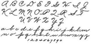 The Palmer alphabet
