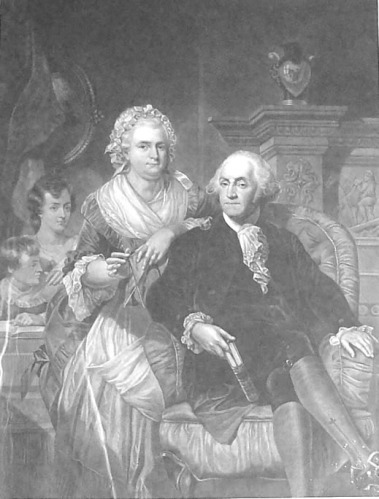 This portrait of George and Martha Washington is in the collection of the Merchant's House Museum
