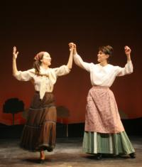 Rita       and Sarah Knapp performing in The Immigrant, Seven Angels Theater, Waterbury Connecticutt