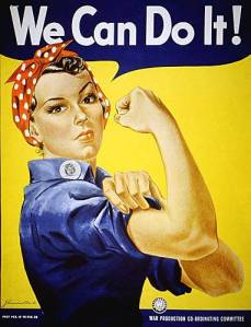 Government poster featuring Rosie the Riveter