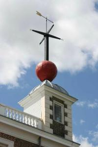 The time ball at the Greenwich Observatory, London. Established 1833