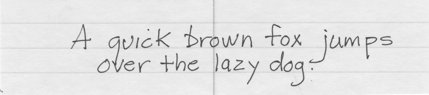 Ball and Stick handwriting