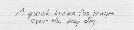 Print Italic handwriting