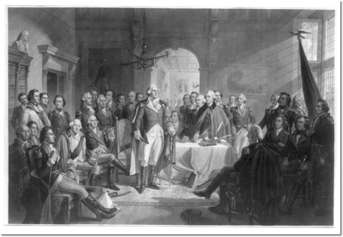 """Washington and His Generals"" from the collection of Th Merchant's House Mseum"