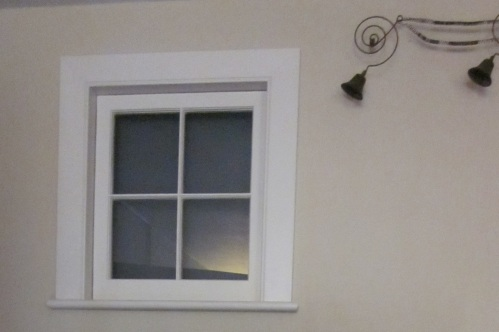 The borrowed light window  at the Merchant's House Museum, recently discovered and restored.