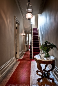 Front hall and stairway, Merchant's House Museum. Photo by Patrick Blanc