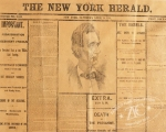 A special edition of The New York Herald announces the dreadful news.