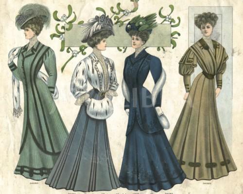 Edwardian winter fashions 1907