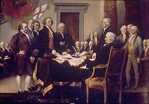 Signing of the Declaration of Independence by John Trumbull