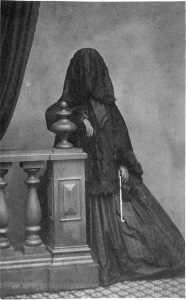 Nineteenth-century woman in mourning
