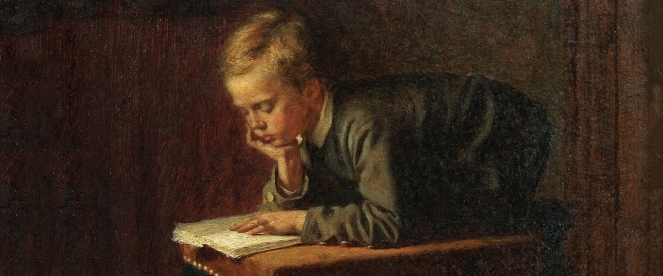 Eastman-Johnson-Boy-Reading