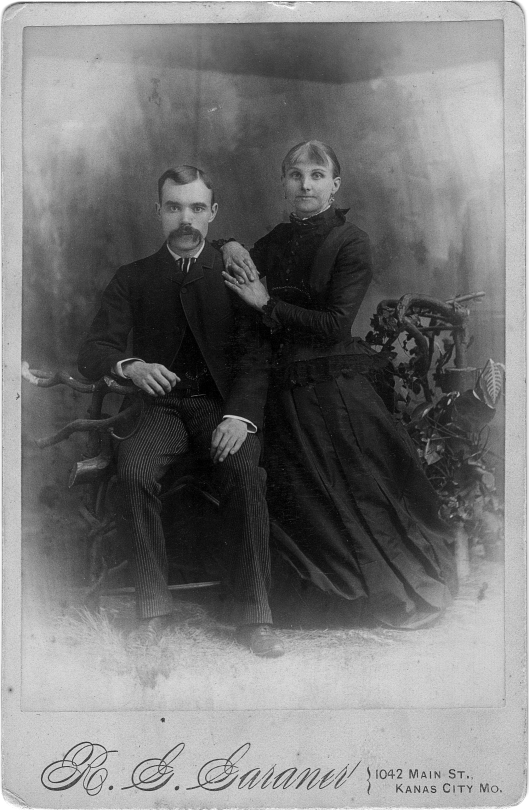 My great grandparents, George and Hannah Wilson, 1882