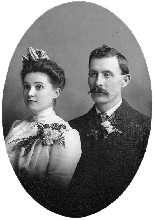 Bessie and Frank's wedding portrait